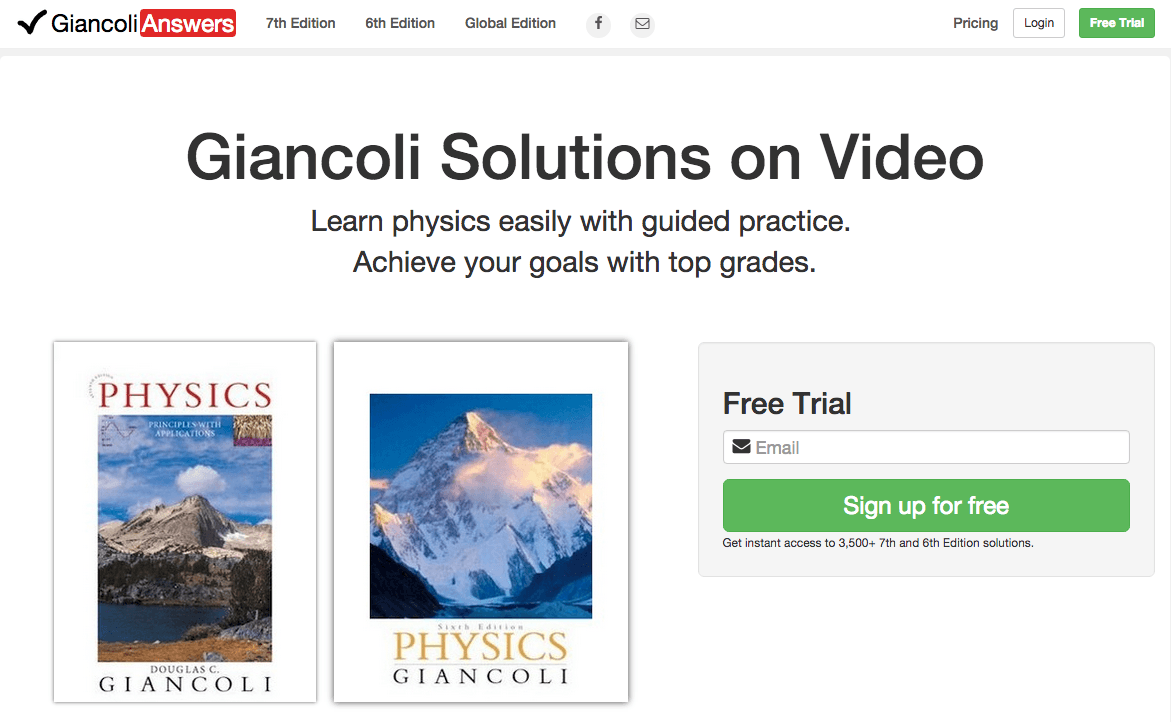 Giancoli Answers homepage