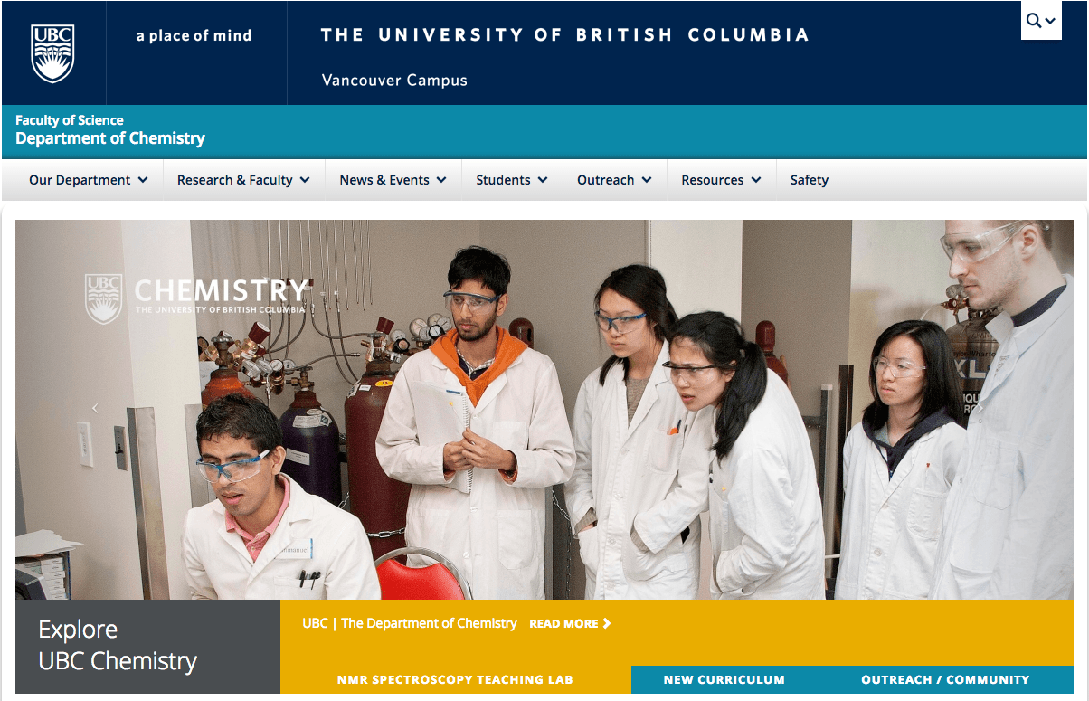 UBC Chemistry Department homepage