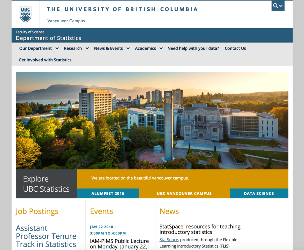 UBC Department of Statistics